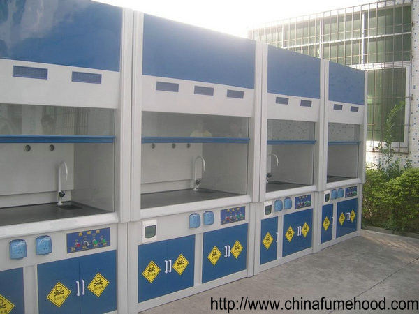High Level FRP Lab Fume Hood Designed For Laboratory Ventilation System Project