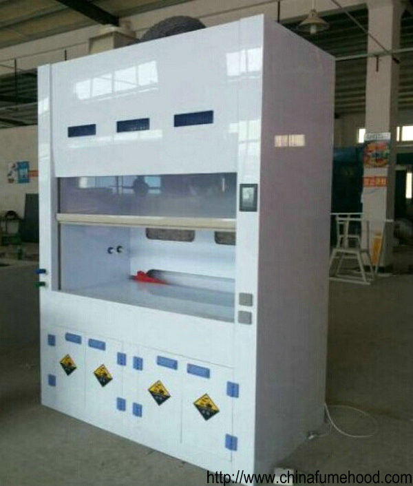 Benchtop Chemical Fume Hood Double Cabinet Doors 5mm Thickness Window