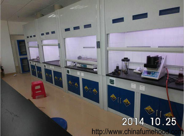 Fiberglass Fume Hood Rubber Adjustable Feet Polymeric Resin Cabinet