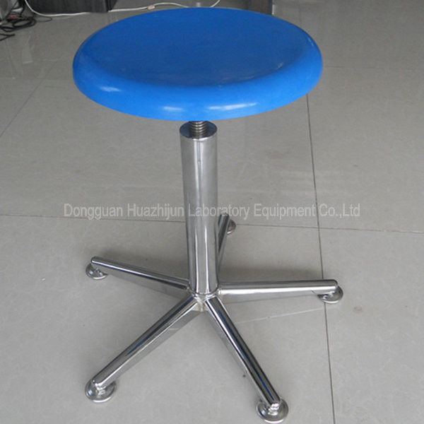 Round FRP School Lab Chairs Pneumatic Adjustment Fixed Or Moving Feet