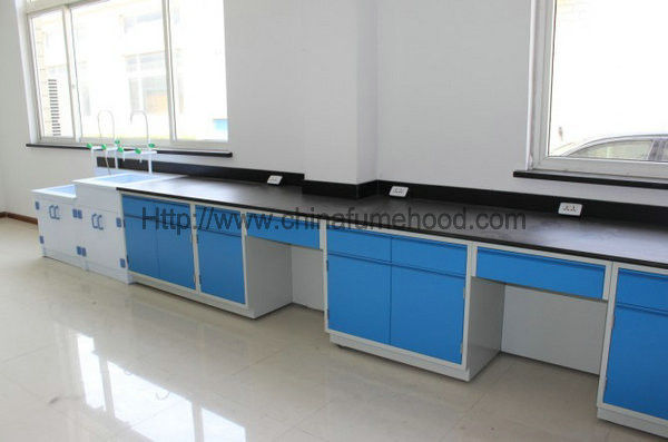 Customized Color Steel Lab Furniture , Epoxy Resin Tops Lab Tables Work Benches