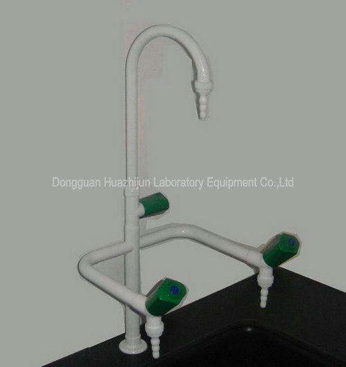 Epoxy Coating Surface 3 Way Tap For Laboratory Sink Alkali