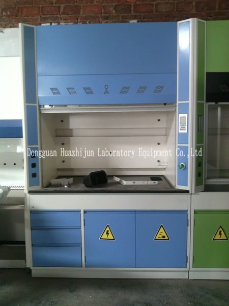 Laboratory Walk In Fume Hood Alkali Resistant Physiochemical Countertop