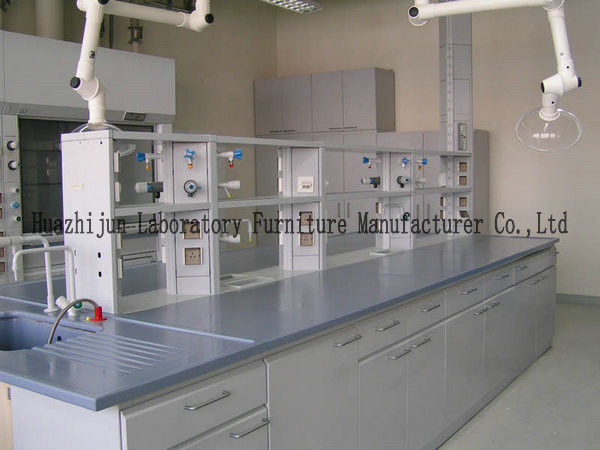 Chemical Laboratory Working Table Non Slip Adjust Feet