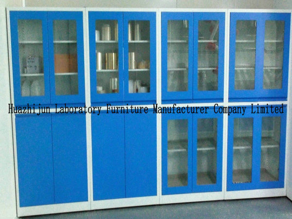 1.8m Height Small Steel Storage Cupboards 1.0mm Thickness Material With PVC Handles