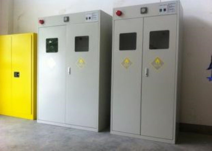 Auto Alarm Compressed Gas Cylinder Storage Cabinets Epoxy