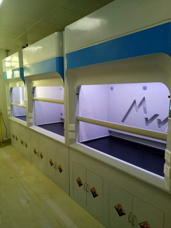 Hospital Benchtop / Chemical FRP Fume Hood Exhaust System With Moisture Proof Table