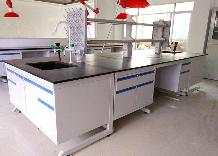 Epoxy Resin Top Chemistry Lab Bench Furniture Anti High Temperature
