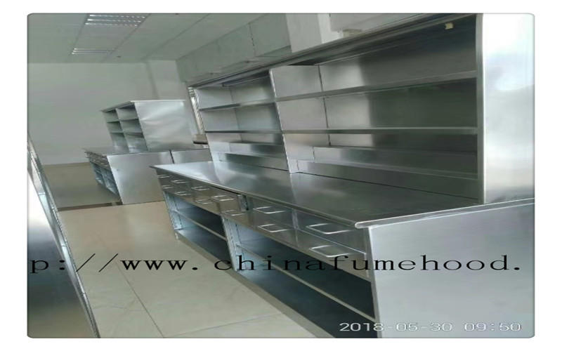 Surface Passivation Stainless Steel Lab Furniture lab tables work benches DTC Hinge 1500*850mm