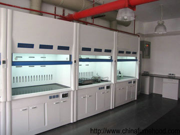 China White FRP Fume Hood in Laboratory Ventilation System