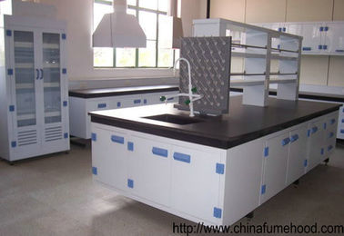 China University Chemistry Lab Furniture , Laboratory Benches And Cabinets With Reagent Shelf distributor