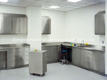 China Chemistry Stainless Steel Lab Furniture Adjustable Feet With 2 Layers Reagent Rack distributor