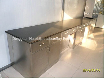 China Industrial Stainless Steel Lab Furniture With Cabinet , Cosmetics Metal Lab Cabinets distributor