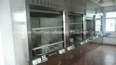 China Combined Stainless Steel Fume Hood Low Noise Rust - Resistance PP Blower distributor