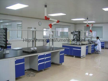 China Steel C Frame Wood Lab Furniture , Counter Top Island Table For Laboratory distributor