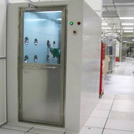 Cold Rolled Plate Structure Single Or Double Person Air Shower With Automatic Doors