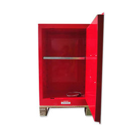 China Single Door Flammable Liquid Storage Cabinet Blue / Red / Yellow For Chemical Lab distributor
