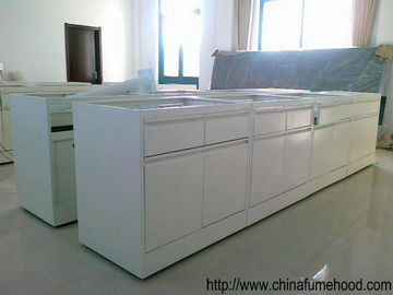 China Laboratory Workbench Furniture Double Thick Edge Countertops With Sink And Faucet distributor