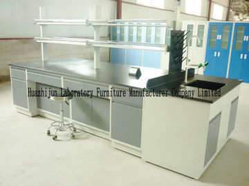 China Cold Rolled Steel Lab Furniture , Island Table For Laboratory With Under Storage distributor