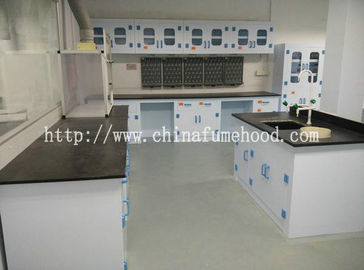 China 8mm Worktop Chemistry Lab Furniture , PP Material Island Table For Laboratory distributor
