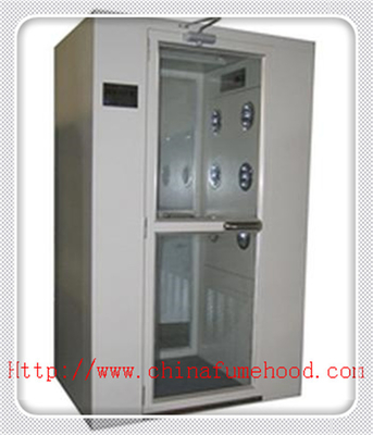 China White Color Clean Room Equipment Air Shower Cabinet With Electronic Interlock factory