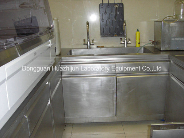 Professional Stainless Steel Lab Furniture , Metal Lab Casework Sidebench